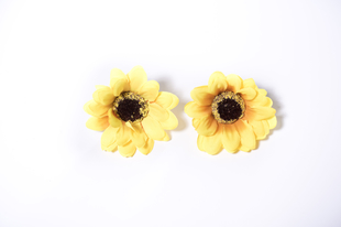 Květinová ozdoba FLOX gerbera žlutá