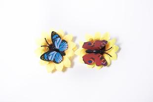 Květinová ozdoba FLOX motýlí žlutá