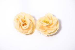 Květinová ozdoba FLOX kamélie žlutá