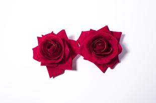 Květinová ozdoba FLOX růže rudá menší