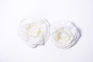 Květinová ozdoba FLOX kamélie bílá