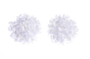 Květinová ozdoba FLOX jiřina bílá ponpónek