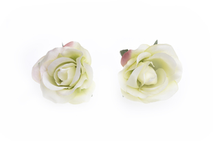 Květinová ozdoba FLOX růže bílá