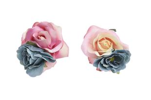 Květinová ozdoba FLOX růže růžová, modrá