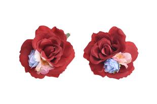 Květinová ozdoba FLOX růže v rudé, modré a růžové